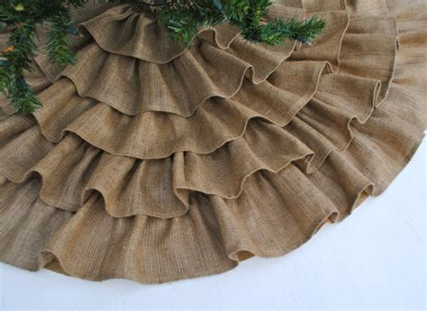 how to make a tree skirt ruffled burlap tree skirt