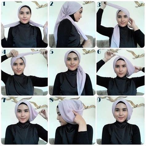 tutorial hijab turban segi empat terbaru 1000 images about hijab tutorial on pinterest polos