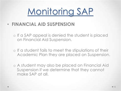 Financial Aid Warning Letter Aca Sap Powerpoint 2