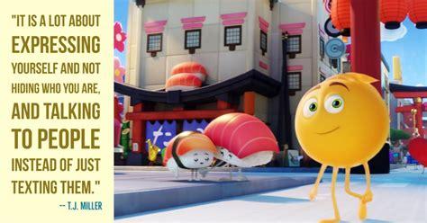 movie quotes using emoji the emoji movie star t j miller explains why the movie