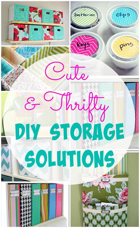 diy solutions 26 cute and thrifty diy storage solutions the happy housie