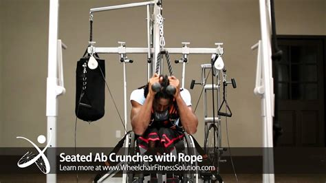 wheelchair fitness solution exercise seated ab crunches with rope 34 of 40