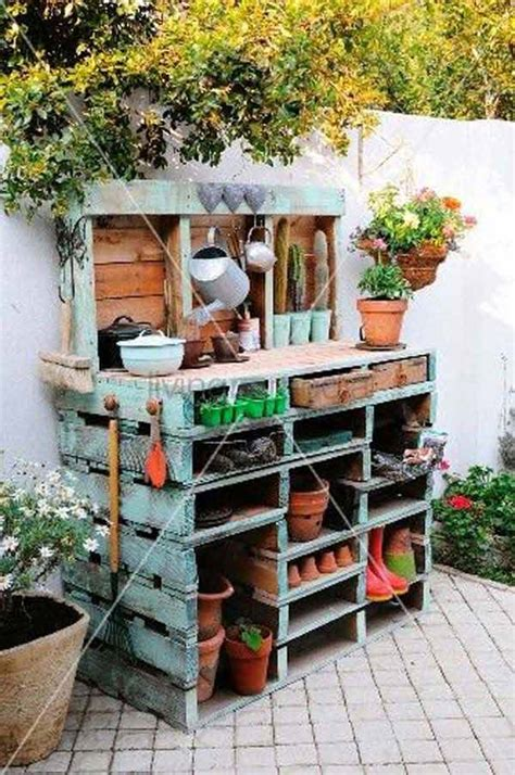pallet garden work bench top 38 genius diy outdoor pallet furniture designs that