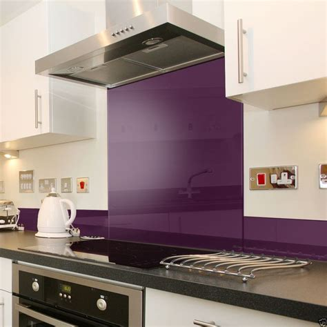 kitchen splashback ideas uk details about purple glass splashback upstand in