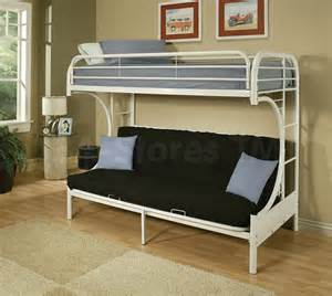 Metal Futon Bunk Bed 275 50 Eclipse Metal Futon Bunk Bed White Bunk Beds 7