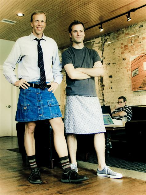 men rocking skirts