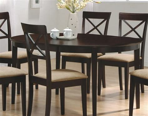 cyber monday cappuccino finish wood dining table oval
