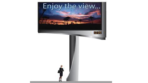 Led Billboard shaped digital billboard cladding conventional