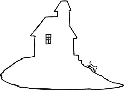 printable haunted house outline free coloring pages of house outline images