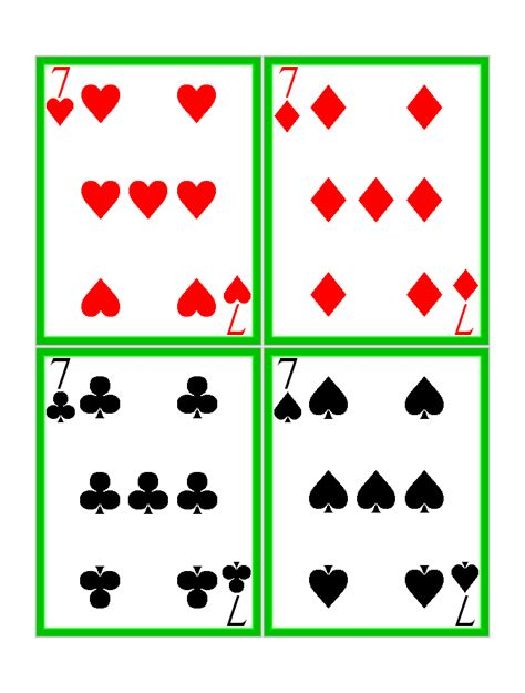 printable deck of playing cards free free printable standard playing cards card games at kid