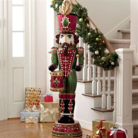 lifesize soldier with drum christmas nutcracker statue ebay