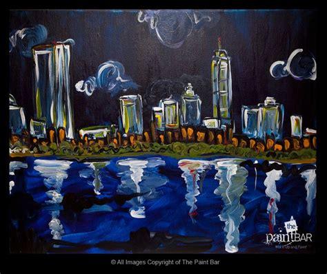 paint nite boston mass painting of boston skyline at paintings