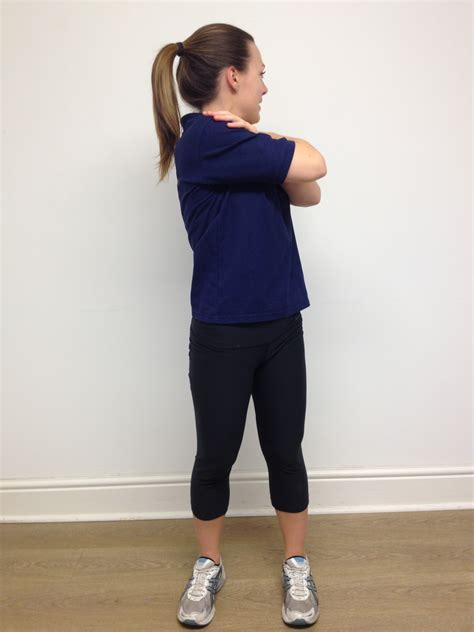 thoracic spine mid  rotation stretch standing