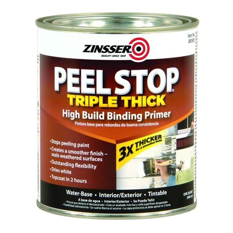 Zinsser Ceiling Paint Review by Zinsser 1 Qt Peel Stop Thick White Binding Primer
