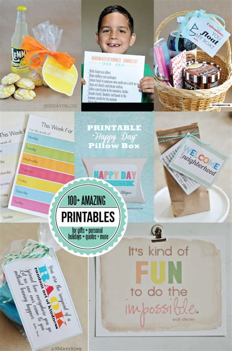 30 Handmade Days - 100 free printables thirty handmade days autos post
