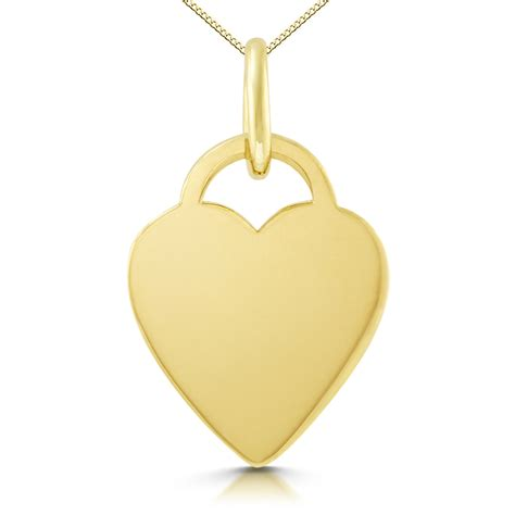 shaped 9ct gold necklace personalised engraved