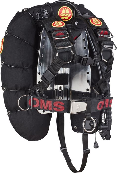 oms comfort harness iq chemically resistant backpack diving unlimited