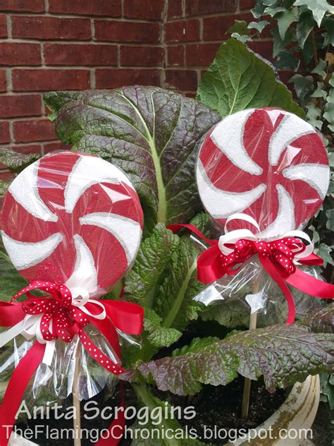 peppermint candy decorations christmas garden