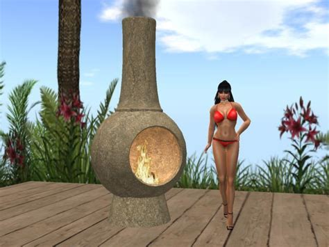 Second Life Marketplace   Outdoor Fireplace (Chiminea)