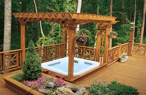 bathtub deck ideas deck and hot tub design ideas pool design ideas