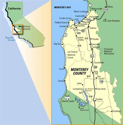 california map monterey county get a birds eye view of the monterey peninsula with our