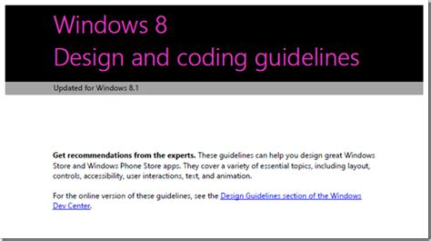 design guidelines windows 7 new windows developer portal and ux guidelines too