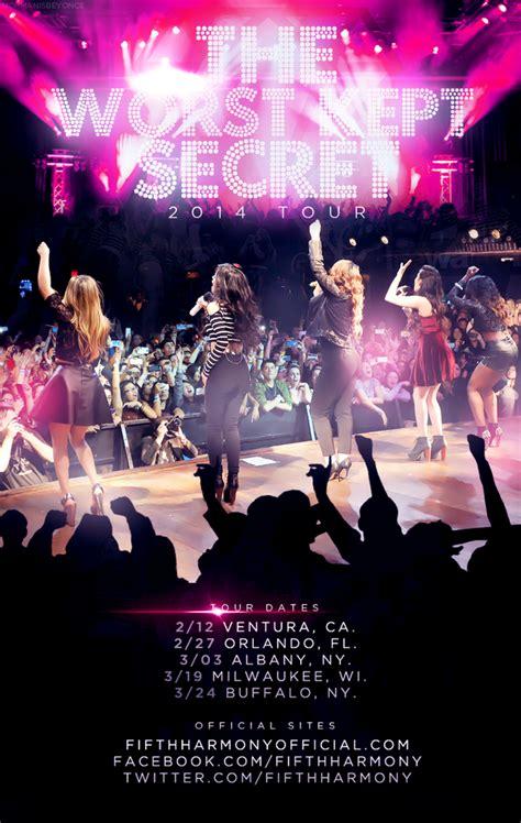 secret tour the worst kept secret tour fifth harmony wiki