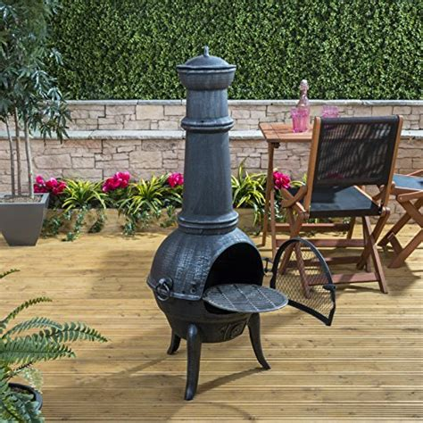 large cast iron chiminea bbq sale