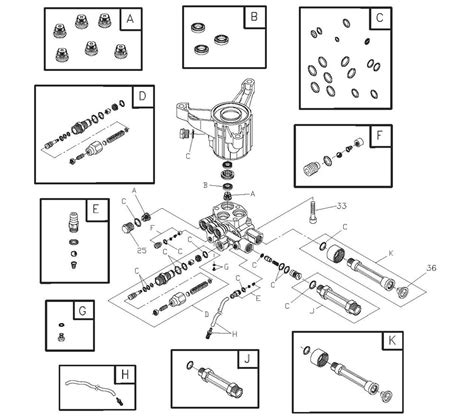 briggs and stratton pressure washer parts diagram briggs and stratton 020290 0 pumps