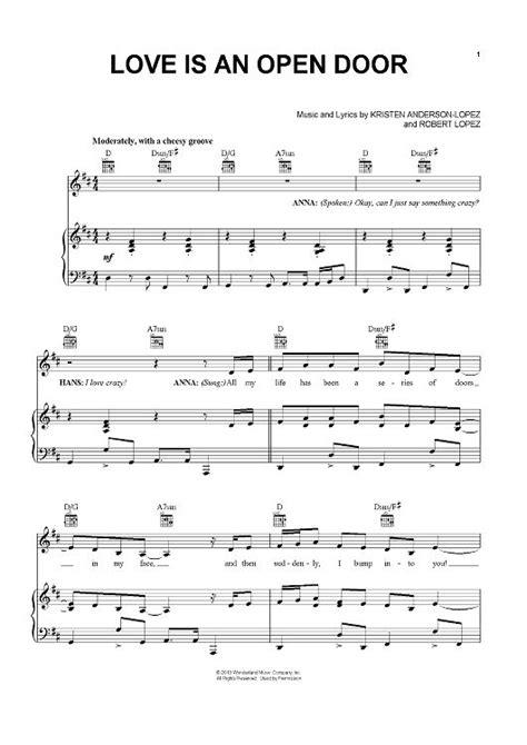 Song Let Open The Door by Is An Open Door Sheet By Robert