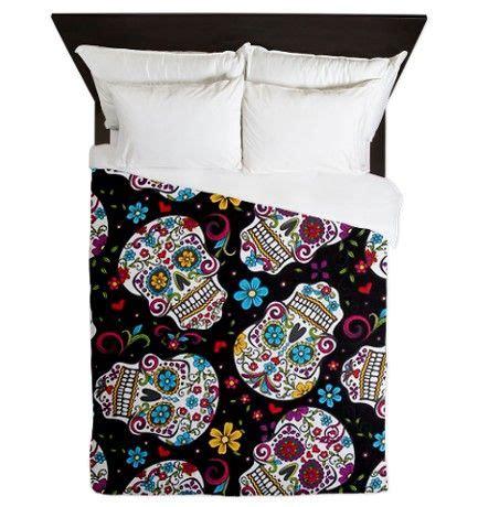 sugar skull bedding queen funky black sugar skulls queen duvet from cafepress home