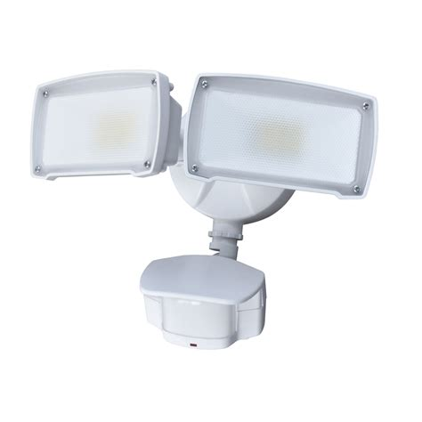 led security light lowes shop utilitech pro 180 degree 2 head white led motion
