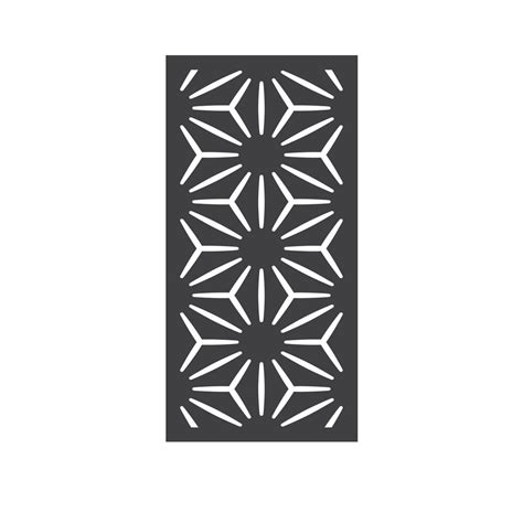decorative fence panels home depot outdeco 5 16 in x 24 in x 48 in star anais modular