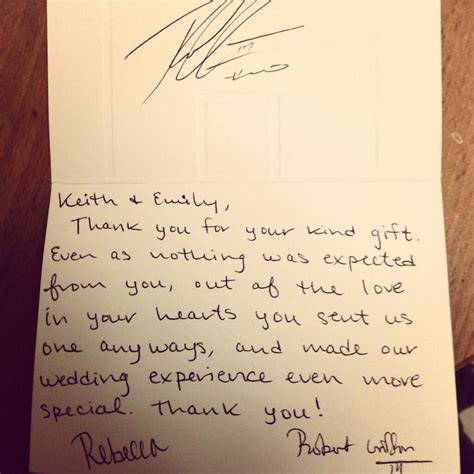 thank you letter marriage gift rgiii sent fan a wedding gift thank you note fox13now