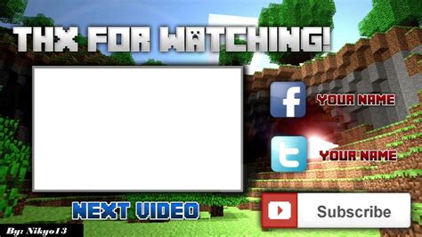Minecraft Outro Template Maker by Camtasia 8 Studio Gaming Outro Template For Minecraft 1