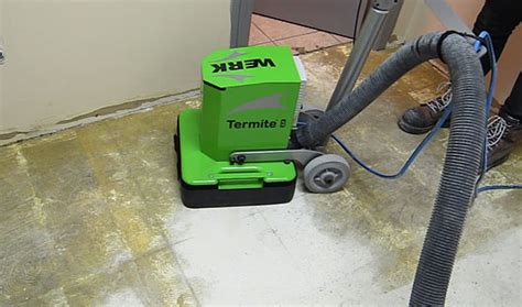 polishing machine on concrete terrazzo hardwood