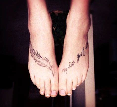 tattoo quotes for the foot charming foot quote tattoos for girls feather cute foot