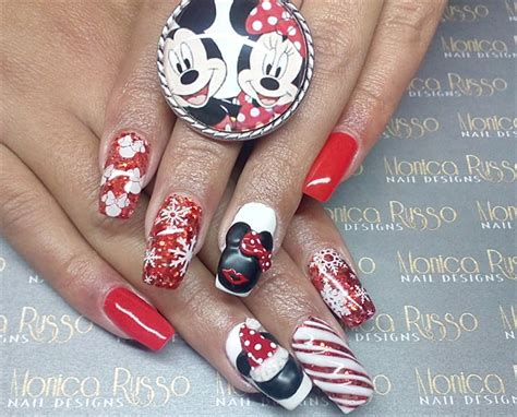 monica russo nail designs day 358 merry mickey minnie nail art nails magazine