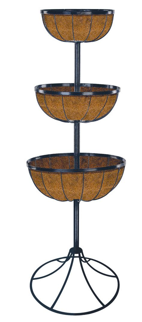 Wrought Iron Outdoor Planters by Metal Garden Planters Gt 2 Tier Wrought Iron Garden Patio