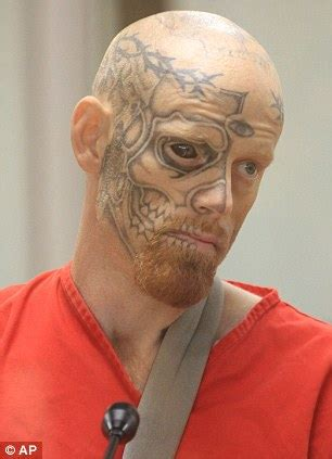 tattoo eyeball prison jason barnum arrested terrifying criminal with a tattooed
