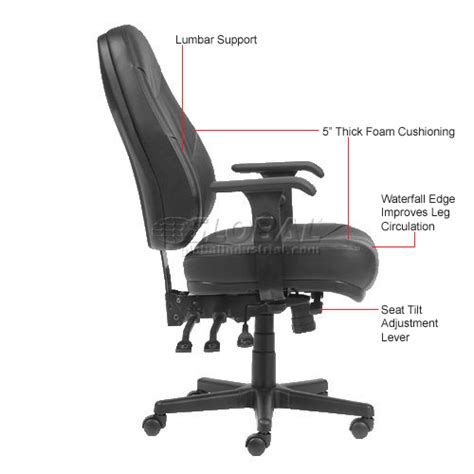 common office chair adjustments chairs leather upholstered executive multifunctional