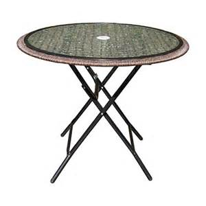 Big Lots Patio Table View Wilson Fisher 174 Resin Wicker Folding 34 Quot Glass Top Bistro Table Deals At Big Lots