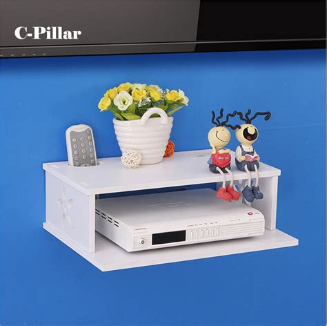 Router Shelf by Safe Digital Tv Set Top Box Resistance Shelf Bracket Shelf Router Wired Network Wall Mount