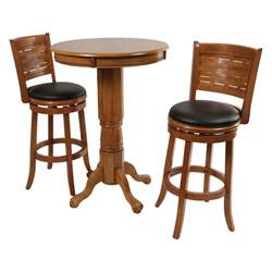 boraam oak sumatra 3 pc pub table set bar pub tables