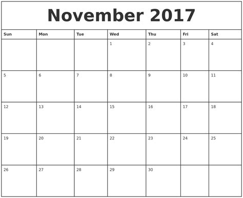printable calendar quarterly 2017 november calendars