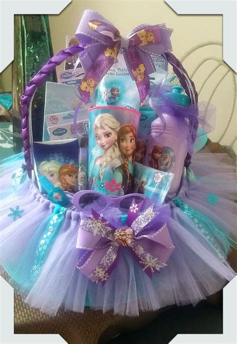 gifts made by frozen gift basket made by norma s unique gift baskets