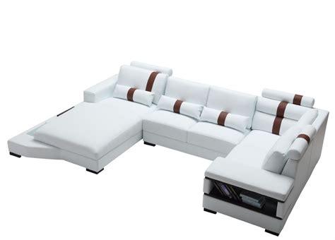 sectional vs sofa set divani casa massimo contemporary bonded leather sectional sofa with light sofas living room