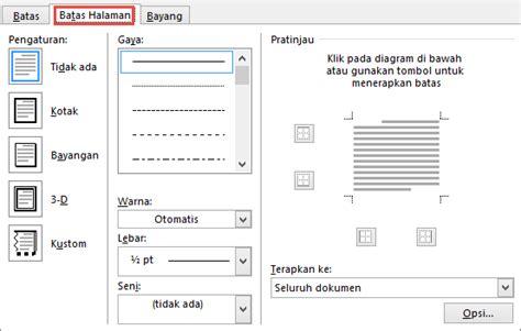 layout app with borders menambahkan mengubah atau menghapus batas dari dokumen