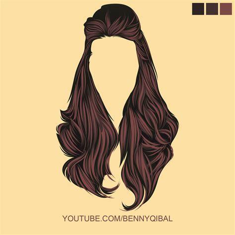 tutorial vector hair photoshop artstation draw vector hair tutorial illustrator benny
