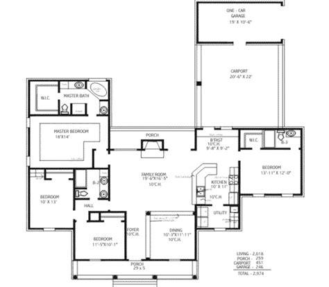 southern style house plan 4 beds 3 baths 2018 sq ft plan